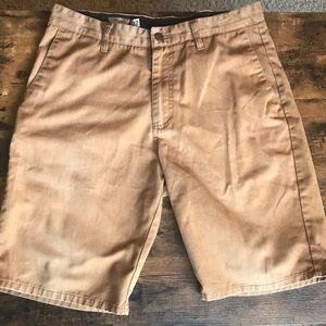 Men's Volcom khaki shorts. Sz 32.